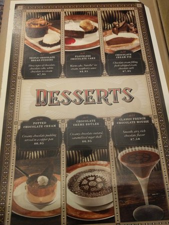 Another Page From The Dessert Menu Picture Of The