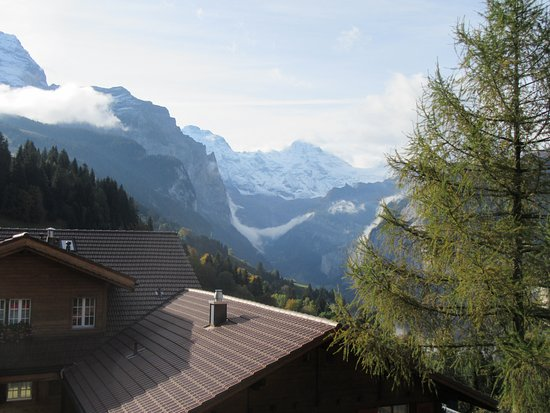 Hotel Edelweiss: View from our balcony