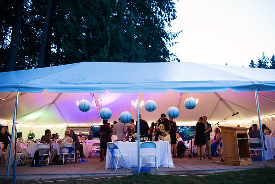 Harrison Mills, Canada: The marquee for the reception