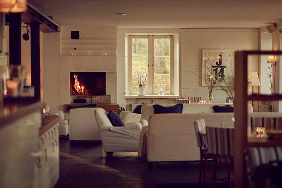Нака, Швеция: Fireplace at Hotel J
