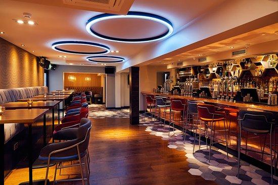 The main bar in Cinnabar Old Stevenage