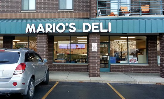 Bensenville, IL: front of & entrance to Mario's Deli