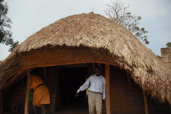 Kasubi Tombs: Traditional Wattle and Daub with thatched roof