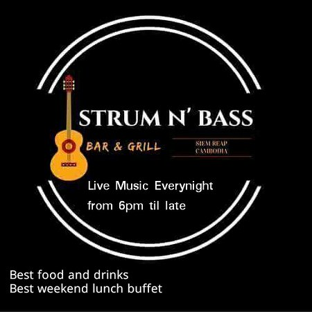 the strum n bass bar and grill logo