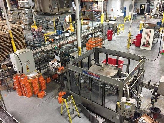 South Burlington, VT: Chaine de production (embouteillage et emballage)