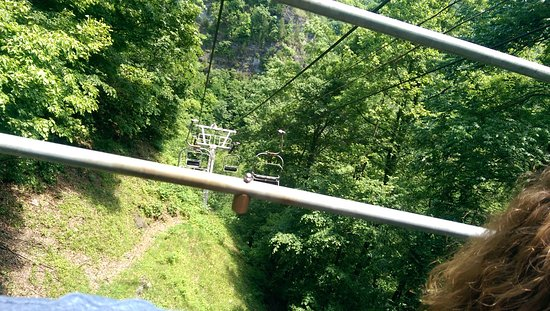 Duffield, Virginie : View from the chairlift. (It was terrifying being the only ones on it.)
