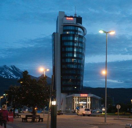 Narvik, Norge: spät Abends