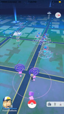 4 Pokestops with lure modules catching pokemon! - Picture of City of