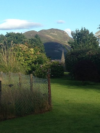 Lamlash, UK: A lovely view of the Holy Isle from garden