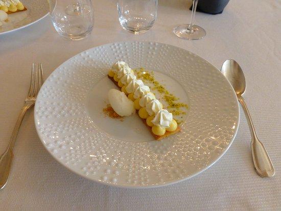 Blere, ฝรั่งเศส: Sablé breton façon tarte au citron - sorbet lemoncello