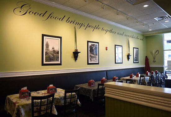 Murfreesboro, TN: Chicken Salad Chick walls: 'Good food brings people together and nourishes the soul.