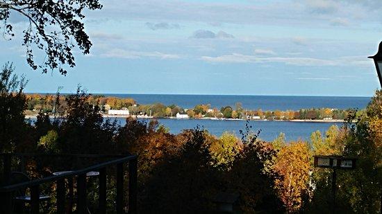 Grand Marais, MI: View from overlook porch