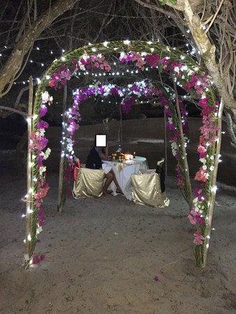 Jacaranda Indian Ocean Beach Resort: Demande de Mariage Organisé par Jacaranda