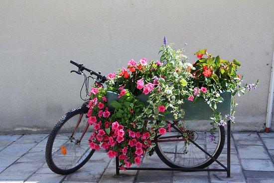 Orange, France: Je fiets kan je er ook leuk stallen