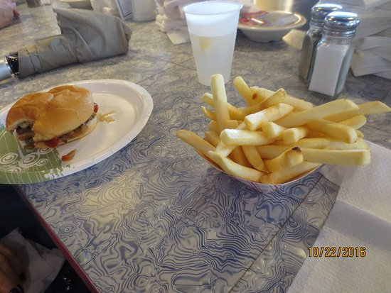Skooters Restaurant Incorporated: burger and fries