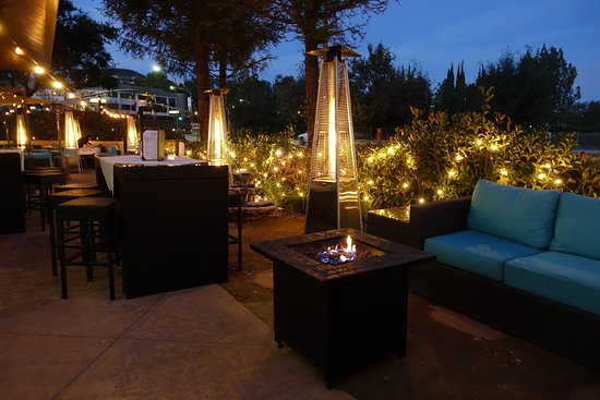 Our Outdoor Beer And Wine Bar Includes High Top Tables A Fire Pit - Bar top fire pit table