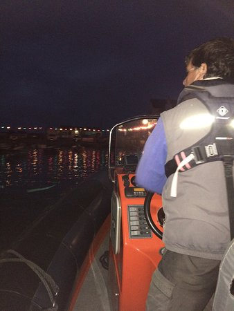 St. Mawes, UK: Late night water taxi from St Mawes to Falmouth