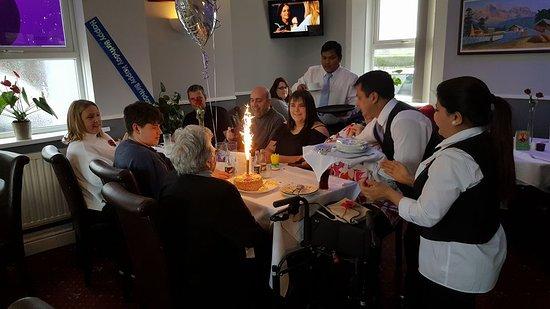 Clay Cross, UK: birthday celebration together