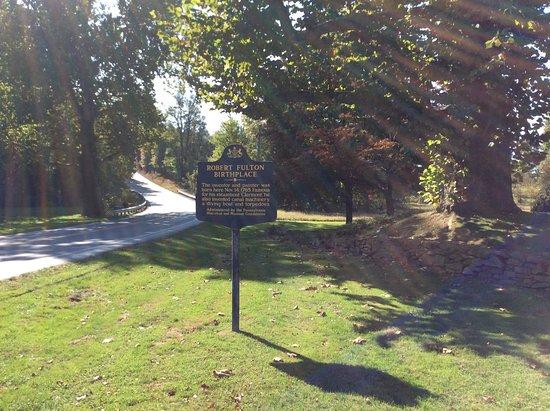 Quarryville, Pensilvania: sign tell the historic nature