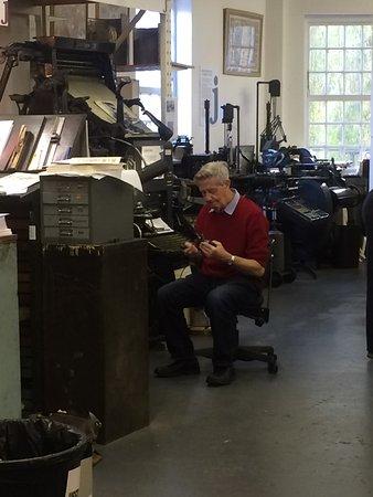 John Jarrold Printing Museum: Printer at work
