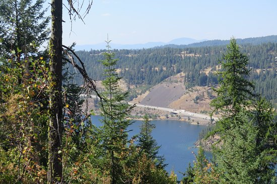 North Idaho Centennial Trail: View from above the trail is below.