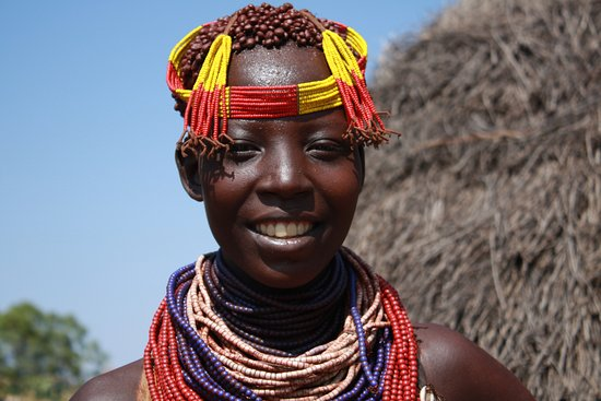 Girl in Karo village - Picture of Simien Image Tour and