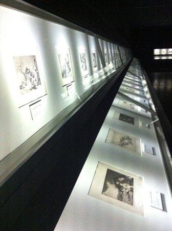 Museo Goya Colección Ibercaja: Zona de los grabados de Goya.