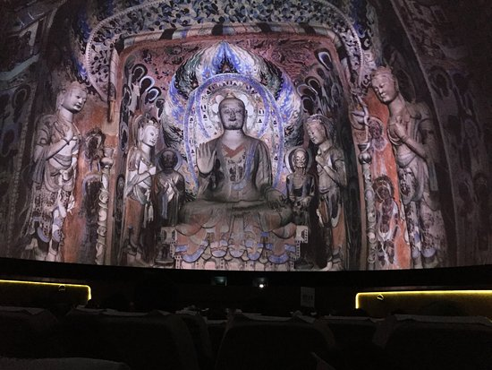 Dunhuang, China: Huge Buddha sculpture of about 75 meter tall