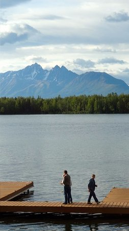 Wasilla, AK: View of the pier