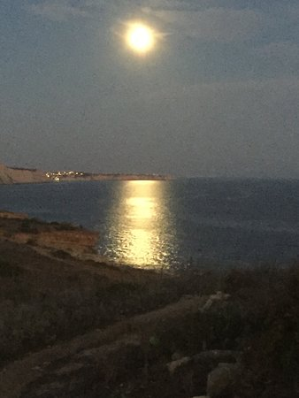 Quinta Do Mar Da Luz : Supermoon from hill 2 minutes walk form hotel grounds