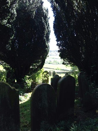 Danby, UK: View through the yews