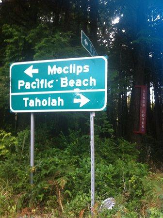 Moclips, Вашингтон: Follow the signs