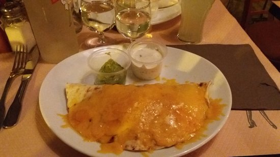Le Chesnay, France: Chicken fajitas