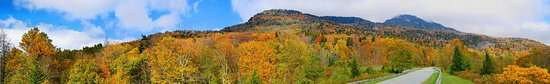 Mars Hill, NC: Autumn view of Grandfather Mountain off of the Blue Ridge Parkway.