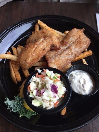 Griff's On The Dock: Red snapper plate