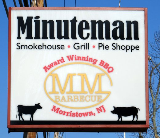 Morristown, Nueva Jersey: New Minuteman Restaurant Sign