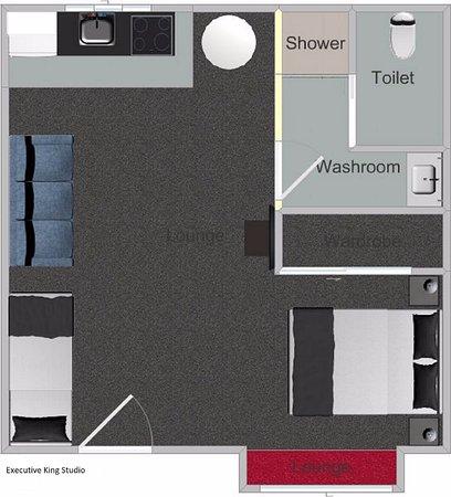 Gisborne, Nueva Zelanda: King Studio floor plan - 36m2