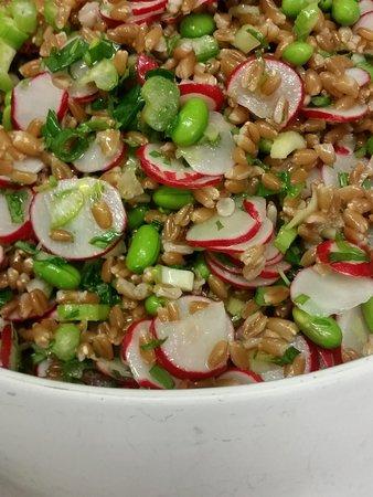 Dolma : Salade de petit épeautre, radis, edamame, céleri vert et aromates