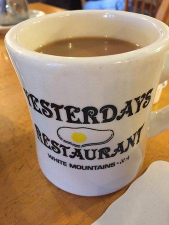 Yesterday's Restaurant: Warm mug o' joe.