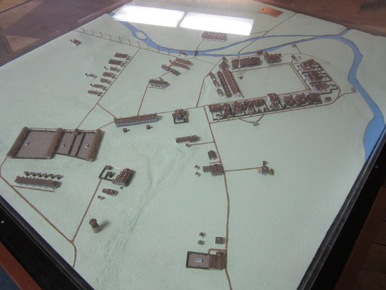 Fort Laramie model at the visitors center