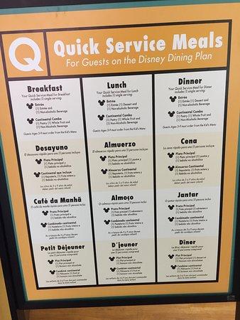 disney s all star music resort menu food court disney dining plan