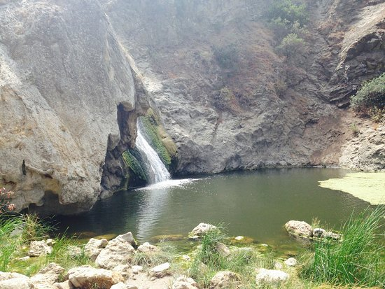 Paradise Falls: View of the water fall.
