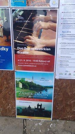 Decin, Czech Republic: Cartaz do meu concerto no castelo