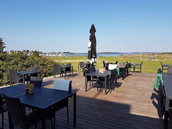 Karrebaeksminde, الدنمارك: terrasse