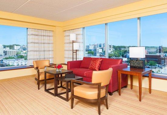 Пеория, Илинойс: King Suite Lounge Area