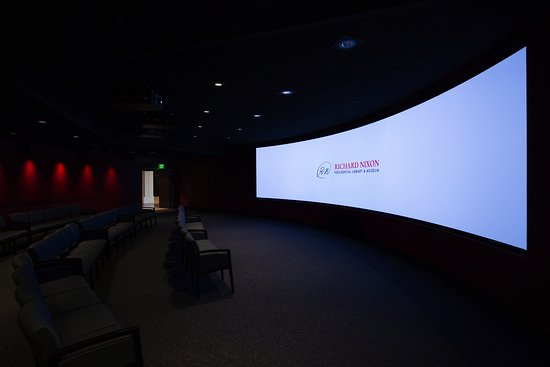 Yorba Linda, CA: The brand new visitor orientation theater at the Nixon Library.