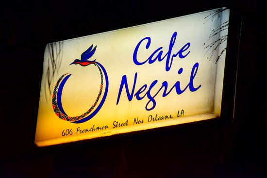 Cafe Negril: Cafe Negril street sign on Frenchmen Street in New Orleans