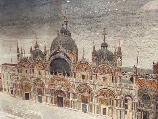 Corning, NY: A glass mosaic picture of St. Mark's Cathedral in Venice