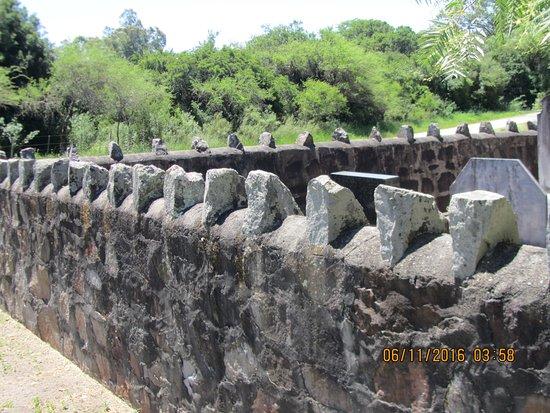 Cementerio Inglés.Muro perimetral.Conchillas