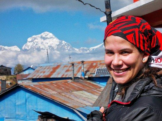Asmita Bed & Breakfast: Happy guest on the trek organized by Asmita b and b